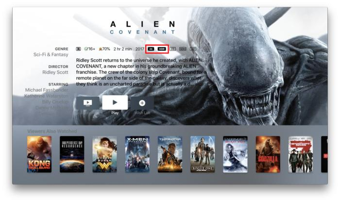 apple tv 4k movie