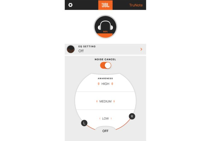 JBL's headphone app allows you to fine-tune the headphone's settings to your preference.