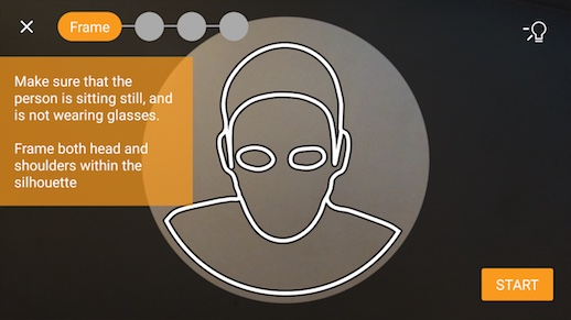 Image: 3D Scanning Welcome Screen