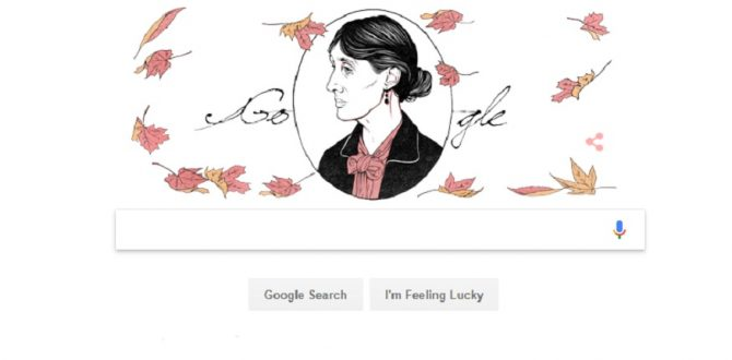 Google Doodle Virginia Woolf 670x330 - Google Doodle Celebrates Virginia Woolf's 136th Birth Anniversary; A Look Into The Life of The Legendary English Writer