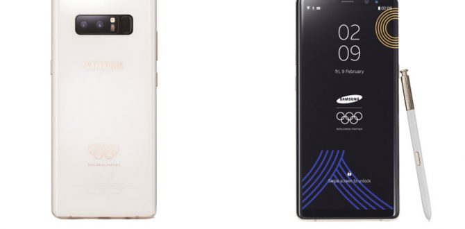samsung galaxy note 8 white 670x330 - Samsung Galaxy Note 8 Gets New Look For 2018 Winter Olympics
