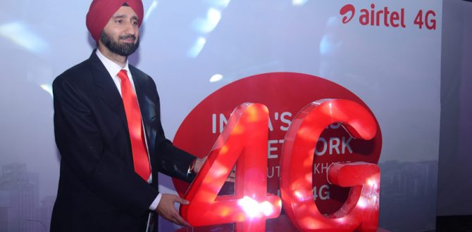 Airtel 4G 670x330 - 4G Steered 82% of Indian Mobile Data Traffic in 2017: Report