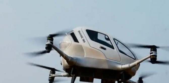 EHANG 148 670x330 - World's First Passenger Drone Completes its Test Flight in China