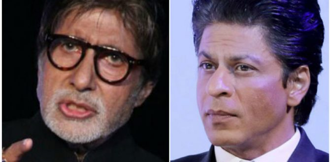 amitabh bachchan and shah rukh khan 670x330 - Amitabh Bachchan Threatens To Leave Twitter As Shah Rukh Khan Scores 32.9 Mn Followers