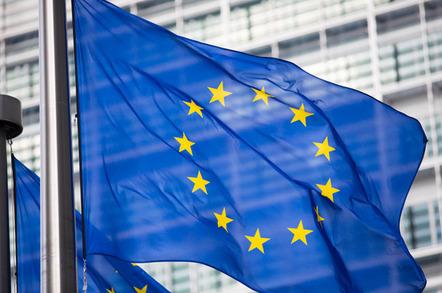 eu flag photo via shutterstock - EU hitches its cart to the blockchain bandwagon