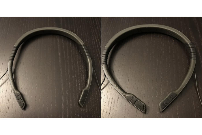 You can tighten or loosen the neckband thanks to the flex zones.