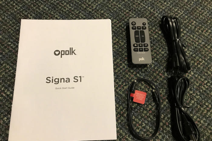 The Signa S1 comes with all the accessories you need to set things up.