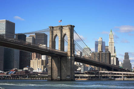 shutterstock brooklynbridge - Talk about a MINER offense! Crypto-cash crafter clashes with T-Mob US in hipster haven