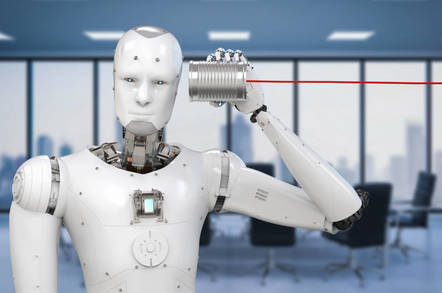 robot listening - Who wanted a future in which AI can copy your voice and say things you never uttered? Who?!