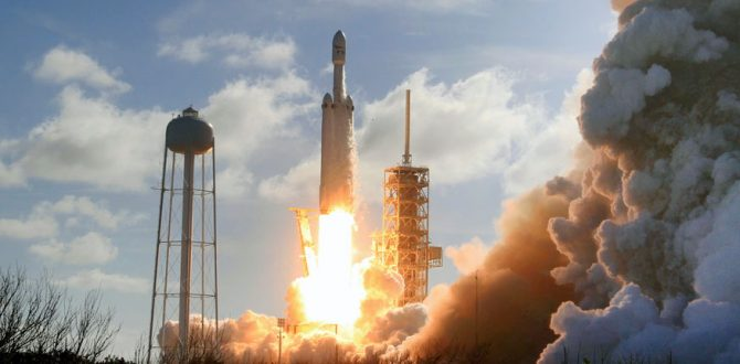 A Falcon 9 SpaceX heavy rocket 1 670x330 - SpaceX Launches NASA Planet-Hunting Satellite to Find Alien World