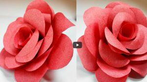 Origami flower rose