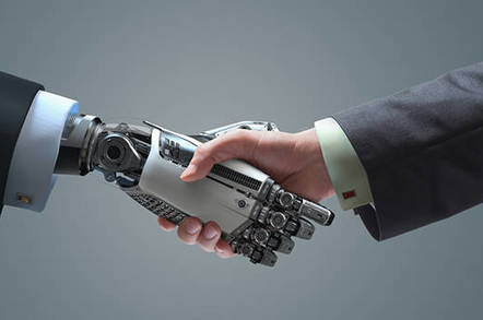 robot handshake shutterstock - Latest from the coming AI robot apocalypse: we're going to be fine