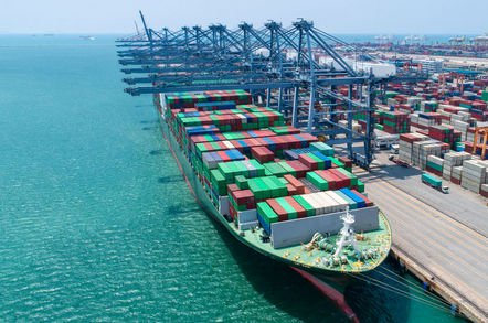 shutterstock container ship - Top IoT M2M module shipper for 2017 was China's Simcom. Who's surprised?