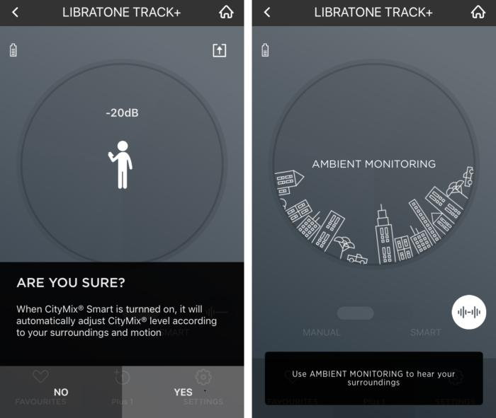 Libratone's noise cancelling features include an adaptive noise cancelling mode and ambient aware.